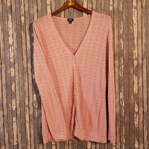 Mossimo cardigan sweater in rose pink - top